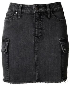 Tinseltown Juniors' Denim Utility Skirt