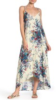 Love Stitch Strappy Floral High/Low Midi Dress