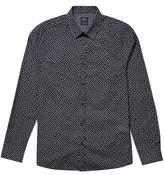 Burton Mens Black Long Sleeve Paisley Print Shirt