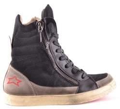Ishikawa Women's Black Leather Ankle Boots.