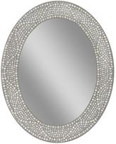 Deco Mirror 23 in. x 29 in. Opal Mosaic Oval Mirror