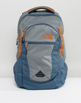 The North Face Pivoter Backpack 27 Litres In Grey/Green/Blue