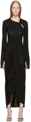Unravel Black Open Sleeve Twist Dress
