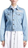 Kenzo Cotton Denim Logo Jacket, Blue
