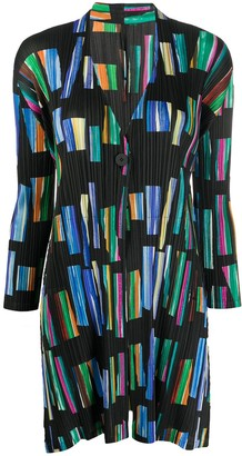 Pleats Please Issey Miyake Hopscotch Colours overcoat