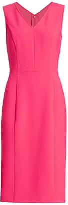 Carolina Herrera V-neck Sheath Dress