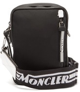 Moncler Detour Logo-embroidered Strap Cross-body Belt Bag - Mens - Black