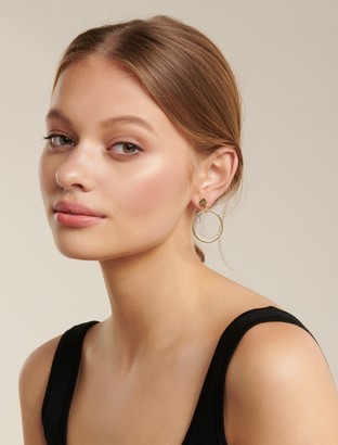 Ever New Clearly Diamante Circle Drop Earrings