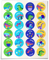 Olive Kids Dinosaur Personalized Round Label Set