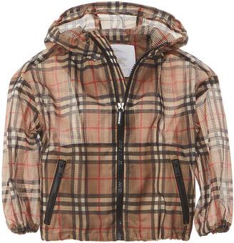 Burberry Lightweight Check Hooded Jacket