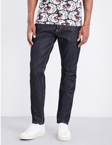 Evisu Regular-fit daruma-print jeans