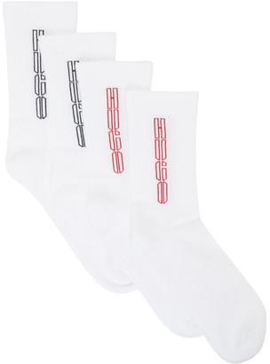 HUGO BOSS Two-Pack White Piano Socks