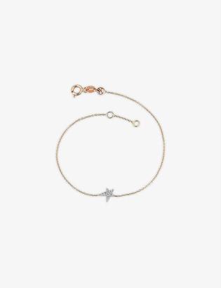 THE ALKEMISTRY Kismet by Milka Star Struck 14ct rose-gold and diamond bracelet