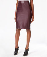 Bar III Faux-Leather Pencil Skirt, Only at Macy's
