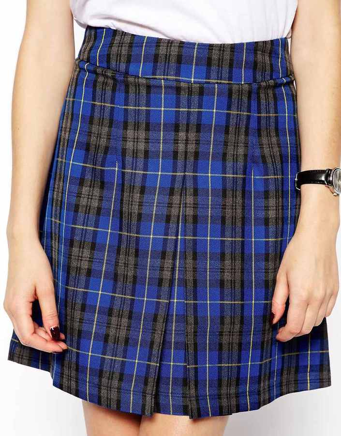 Asos A-Line Skirt In Check