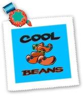 3dRose LLC qs_150122_5 Dooni Designs Food Designs - Funny Cool Beans Saying Food Humor Design - Quilt Squares
