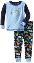 Gerber Baby-Boys Infant 2 Piece Top With Dino Printed Pajama Pant