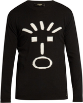 Fendi Faces-intarsia crew-neck sweater