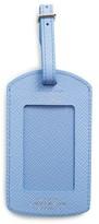 Smythson Sea Horse Leather Luggage Label - Blue