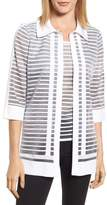 Ming Wang Stripe Jacquard Jacket