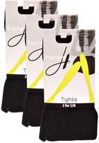 Hanes Women`s Set of 3 Matte Opaque Control Top Tight T