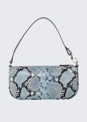 BY FAR Rachel Snake-Print Leather Shoulder Bag