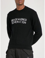 Undercover Brainwashed generation wool and cashmere-blend jumper