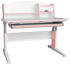 STUDY Hendrick Adjustable Kids Desk with Book Shelf Zoomie Kids Color: Pink