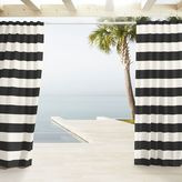 Outdoor Stripe Curtains - Black