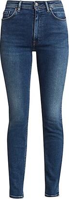Acne Studios Faded High-Rise Slim-Leg Jeans