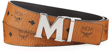 MCM Claus Reversible Visetos/Saffiano Belt