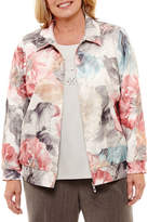 Alfred Dunner Lakeshore Drive Bomber Jacket-Plus