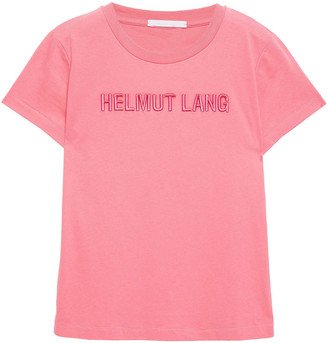 Helmut Lang Standard Baby Embroidered Cotton-jersey T-shirt