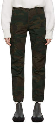 Carhartt Work In Progress Green Camouflage Cymbal Pants