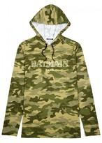 Balmain Camouflage-print Hooded Cotton Top
