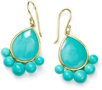 Ippolita Nova 18k Gold Turquoise Pear Drop Earrings