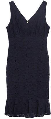 DKNY V-Neck Empire Seam Lace Dress