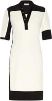 Balenciaga Graphic Line bi-colour dress