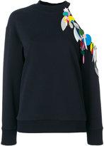 Christopher Kane sequin loop sweatshirt - women - Cotton/Polyester/Brass - XS