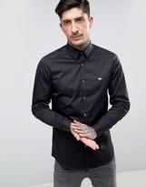 Lacoste Slim Fit Shirt Stretch Poplin in Black