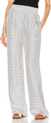 Burberry Monogram Pajama Pant in Black & White | FWRD