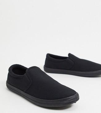 Mens Wide Canvas Slip On Shoes | Shop