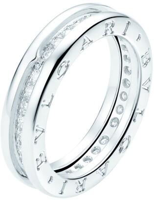 Bvlgari White Gold and Diamond B. Zero1 Ring