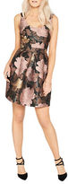 Miss Selfridge Floral Printed Sleevess Fit and Flare Prom Dress