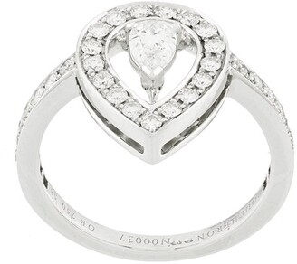 Boucheron 18kt White Gold Solitaire Diamond Ring