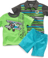 Nannette Baby Set, Baby Boys 3-Piece Shorts and Two Shirts