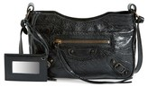 Balenciaga Classic Hip Leather Crossbody Bag - Black