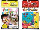 Melissa & Doug ; On the Go Craft Activity Sets - Face Painting and Clay Creations