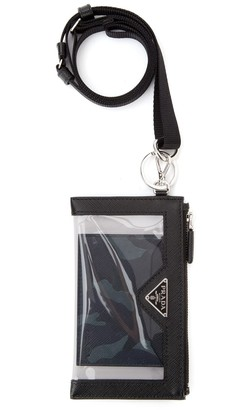 Prada Printed Keychain Cardholder