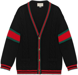 Gucci Oversize cable knit cardigan